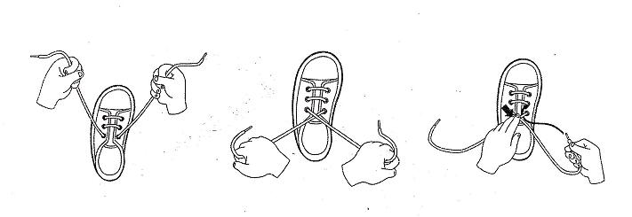教孤独症儿童系鞋带的方法
